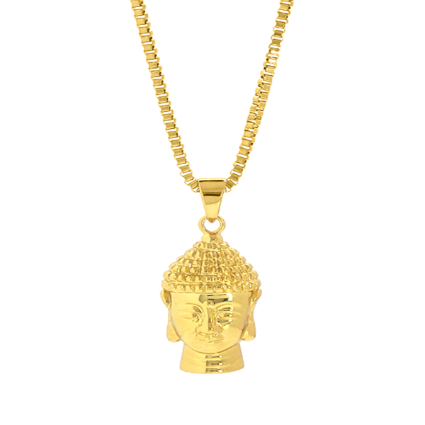 Necklace - Gold Calming Buddha Necklace - Tossari
