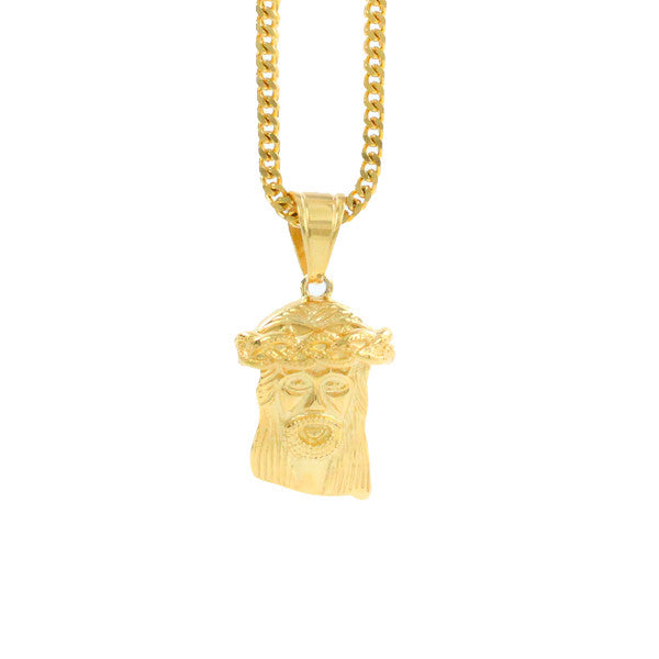 Gold Jesus Piece Pendant Necklace New York Toronto, Texas, california Los angeles