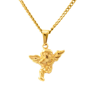 18KT Gold Happy Angel Necklace
