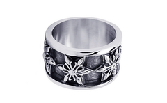 Ring - Silver 6 Point Fleur-de-lis Ring - Tossari  - 1