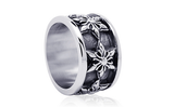 Ring - Silver 6 Point Fleur-de-lis Ring - Tossari  - 2
