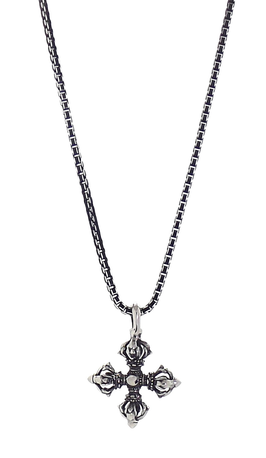 Necklace - Silver Vajra Star Necklace - Tossari  - 3