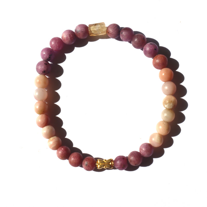 18k Double Lotus bead bracelet - Musa Jewelry ™