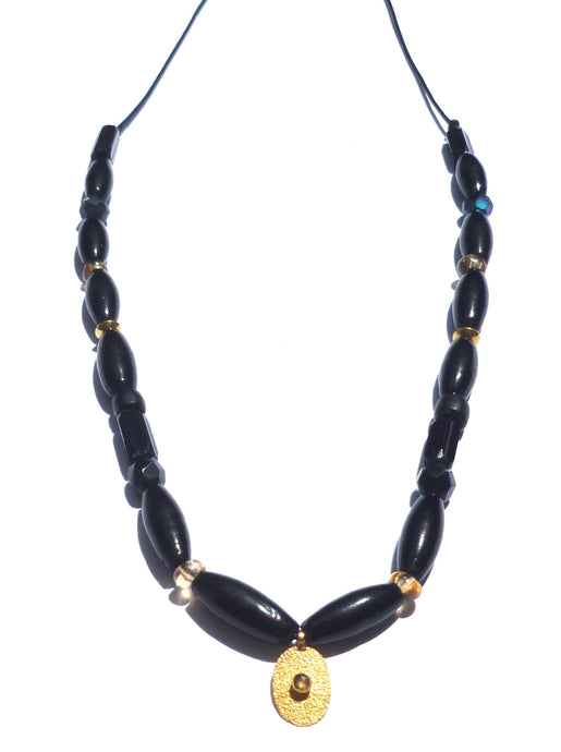 Black 18k Gold Vintage Necklace - Musa Jewelry ™