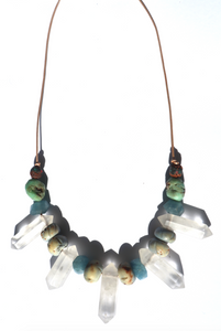 Five Crystal Necklace - Musa Jewelry ™
