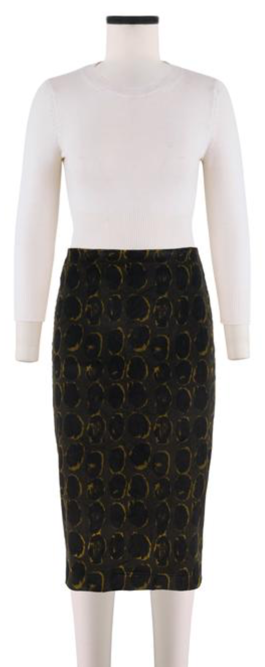 Samantha Sung Rock Chloe Skirt Hazy Dots