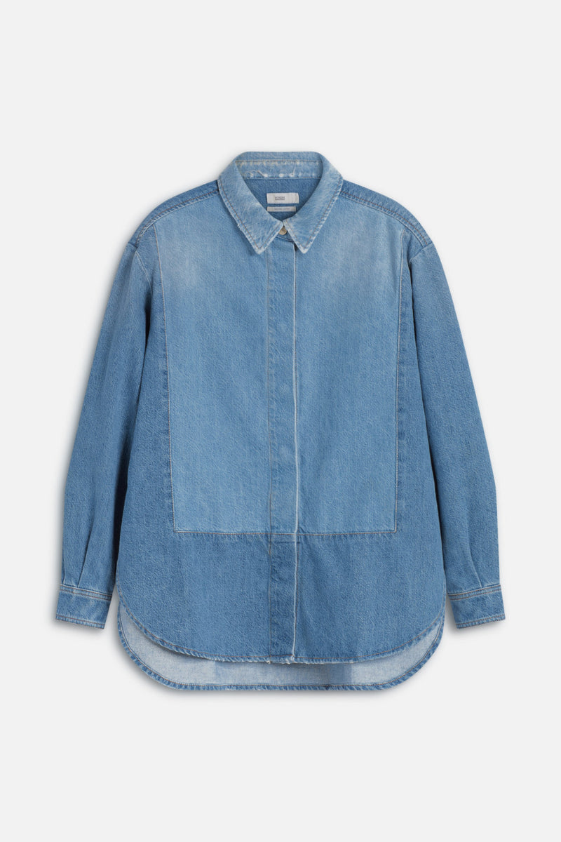 Closed Overshirt Organic Denim mittelblau