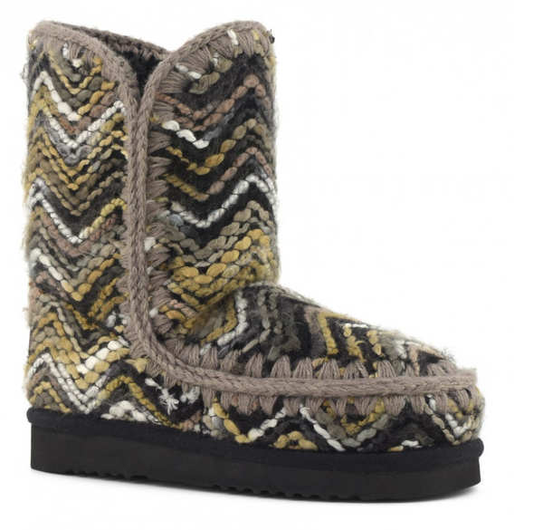 MOU Boot Eskimo 24 Wool Fabric Mix Gris