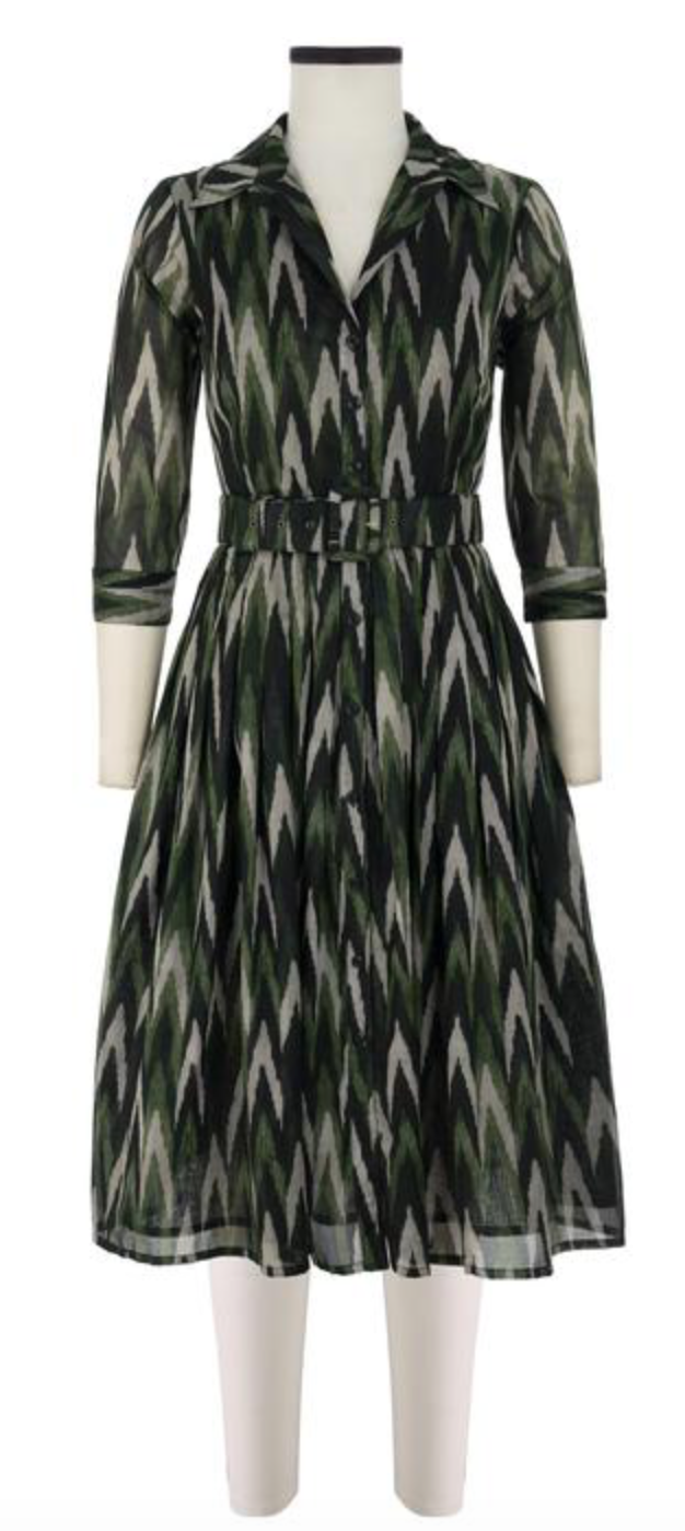 Samantha Sung Kleid Audrey Dress Zig Zag Ikat