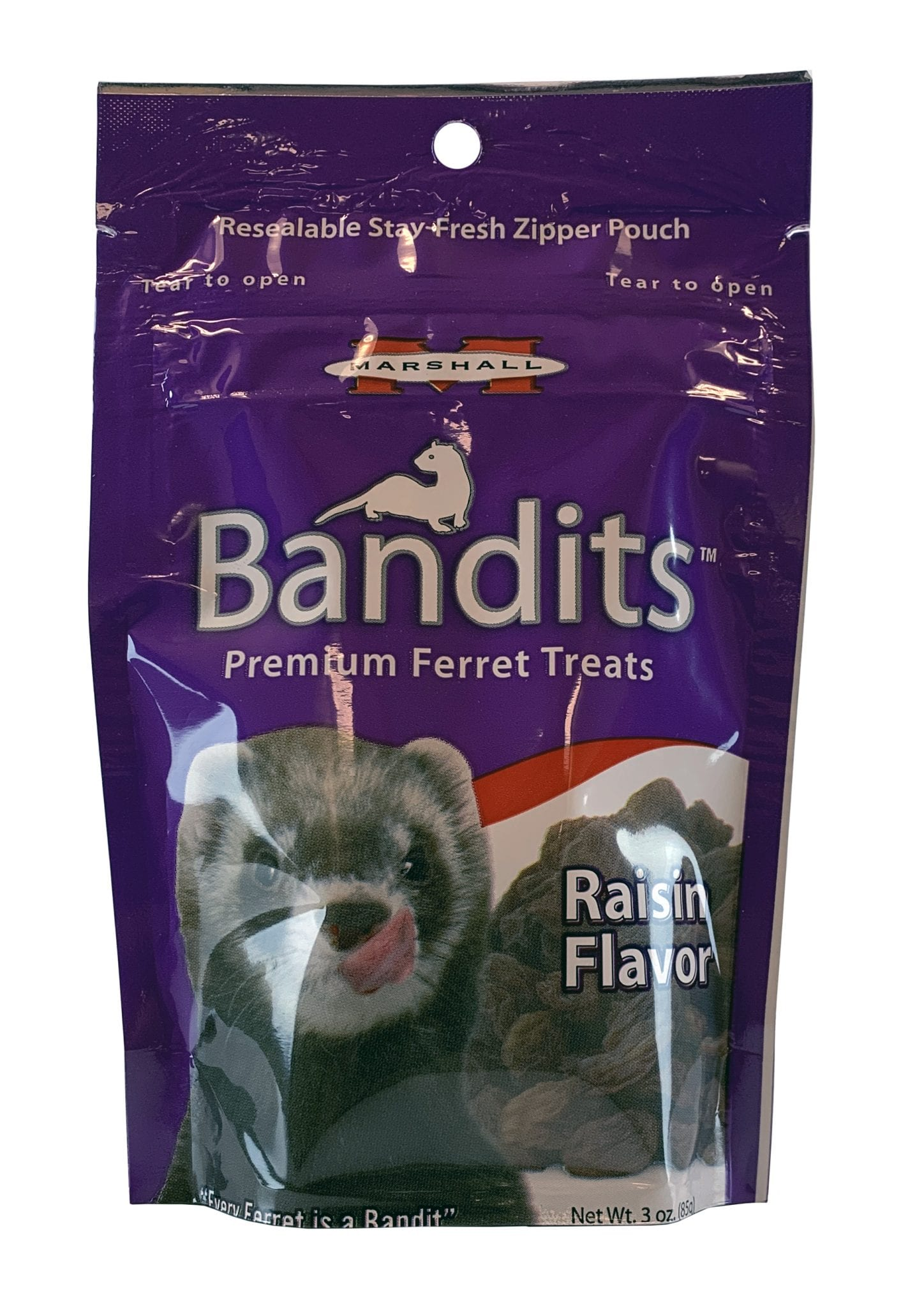 Bandits Premium Ferret Treats, Raisin Flavor