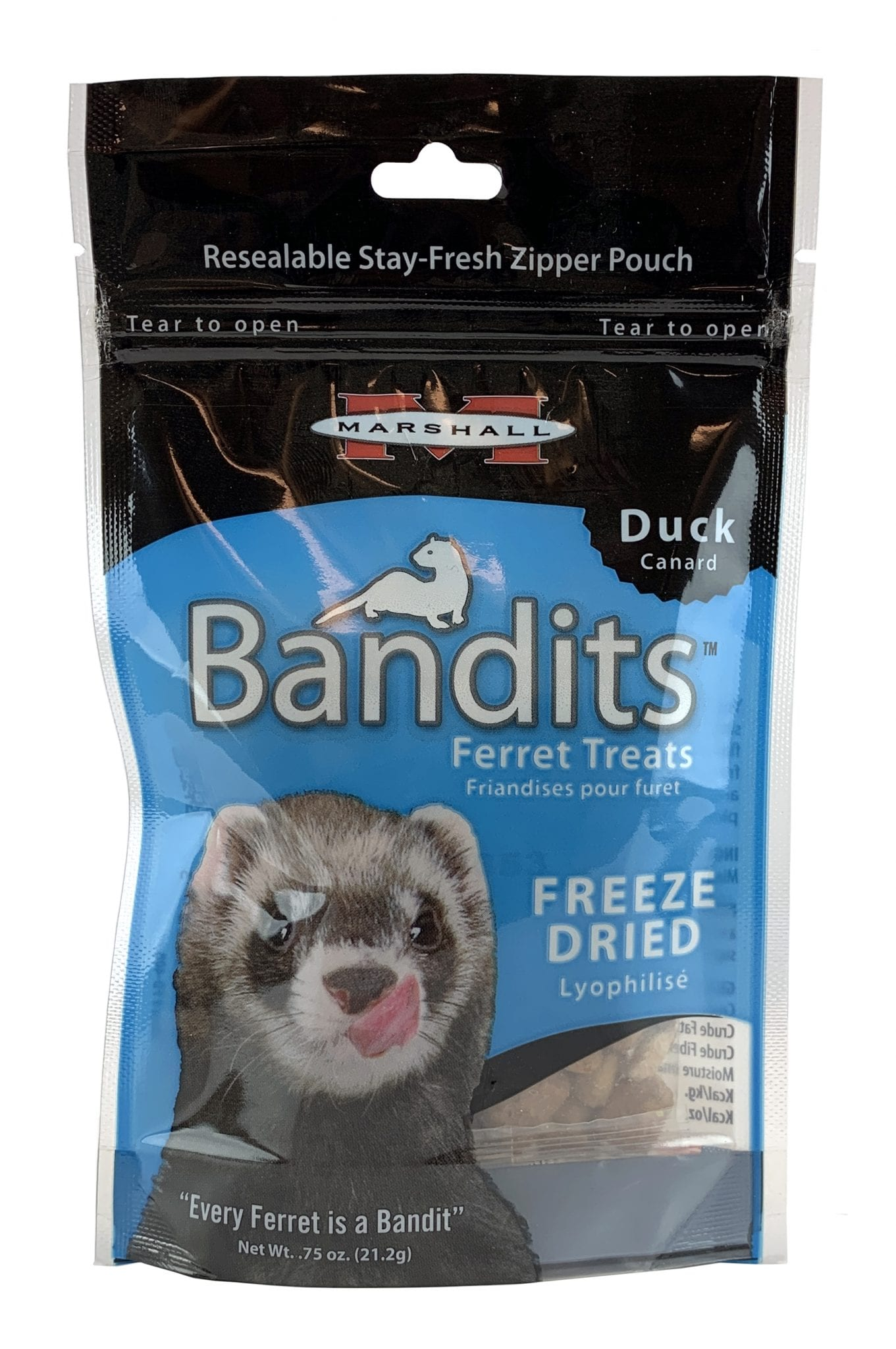 Bandits Freeze Dried Treats, Duck .75 oz