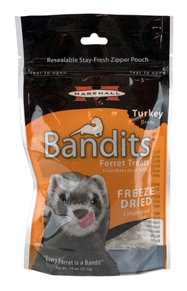 Bandits Freeze Dried Treats, Turkey .75 oz