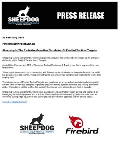 Sheepdog Exclusive Distributor Firebird Targets