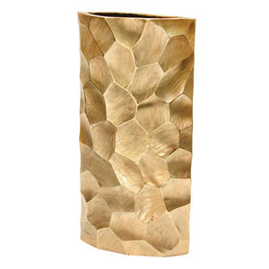 "Tall Metal Floor Vase Gold 18"" - Lucia Gardens"