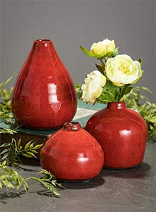 Small Ceramic Vase Set of 3 - Lucia Gardens