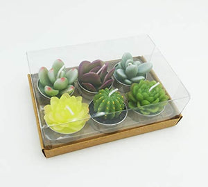 Cactus Tealight Candles, 12 Handmade Delicate Succulent Cactus Candles - Lucia Gardens
