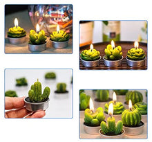 Load image into Gallery viewer, Cactus Tealight Candles, 12 Handmade Delicate Succulent Cactus Candles - Lucia Gardens