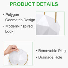 "Load image into Gallery viewer, Ceramic Geometric Hanging Planter With Hooks - 8"" Set of 2 - Lucia Gardens"