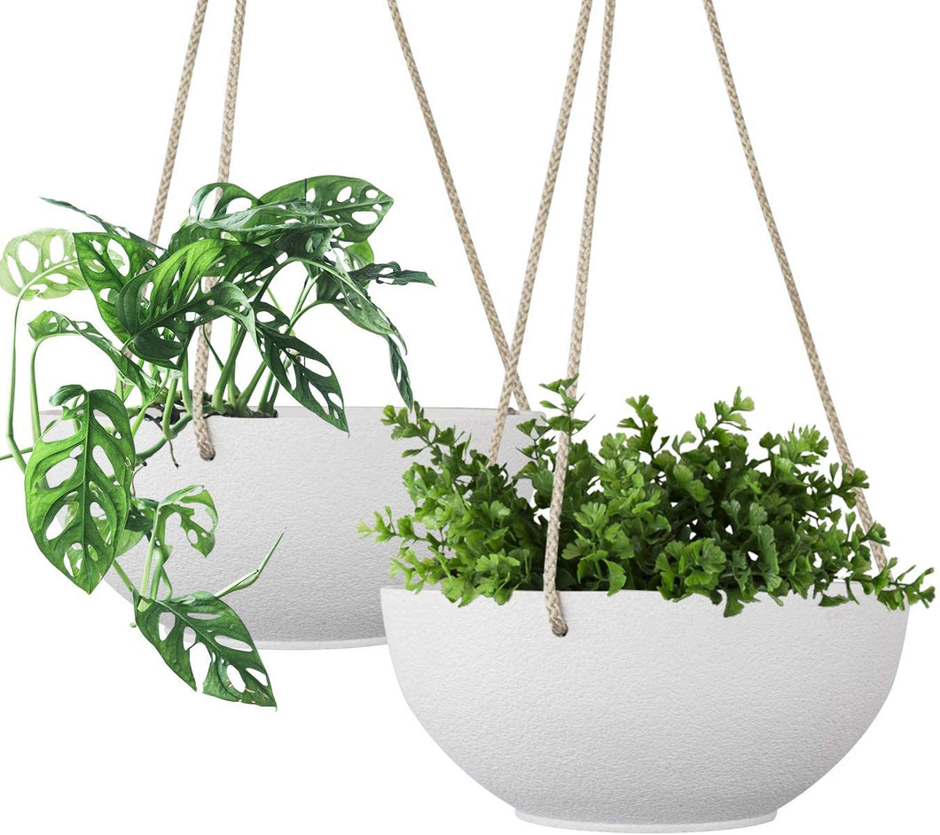 White Hanging Planter Basket - 8