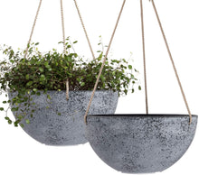 "Load image into Gallery viewer, Hanging Planters for Indoor Plants - 10"" Set of 2 - Lucia Gardens"