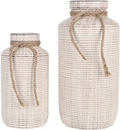 Ceramic Decorative Rustic Vase Set of 2 - Lucia Gardens