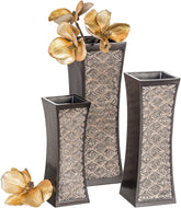 Dublin Decorative Vase Set of 3 Durable Resin - Lucia Gardens