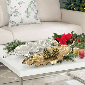 Metal Leaf Serving Tray - Lucia Gardens