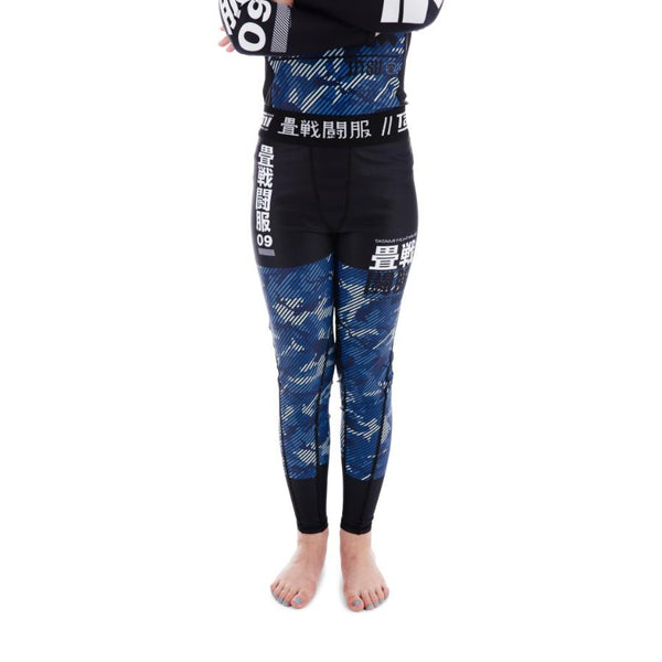 Tatami Kids Essential Camo Spats Leggings - Blue