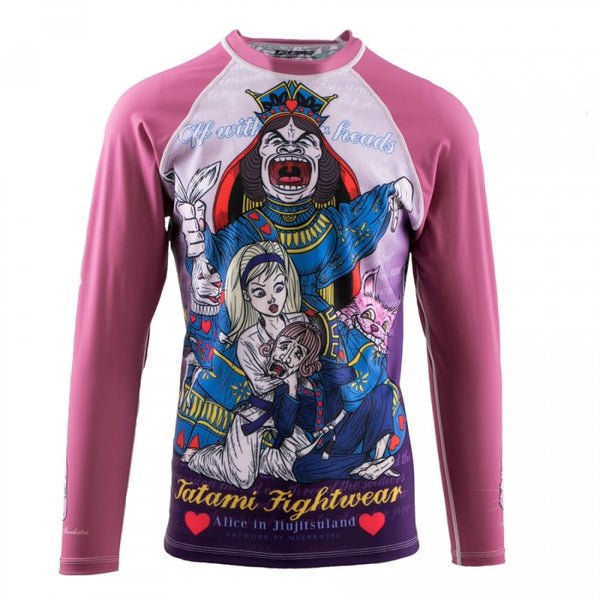"Tatami Pink ""Alice In"" Long Sleeve Kids Rash Guard"