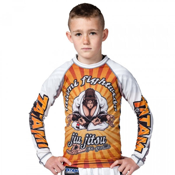 "Tatami No Gi ""Zen Gorilla"" Long Sleeve Kids Rash Guard"