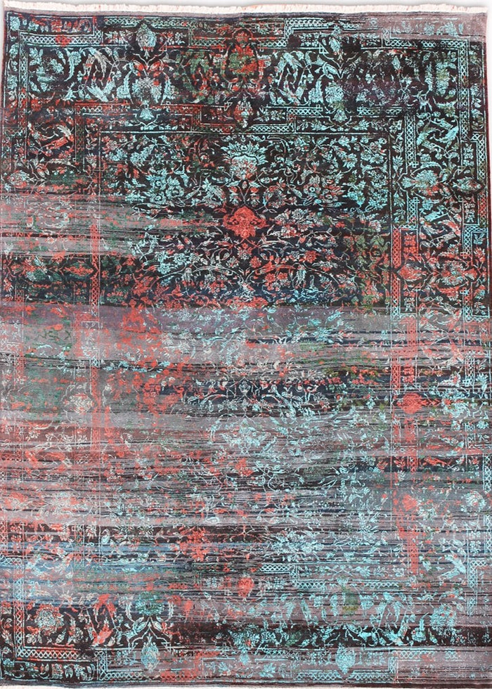 Carpet Couture Hand-Knotted Carpets made of Pure Silk Rectangular Modern for Indoor Use 236 cm x 300 cm