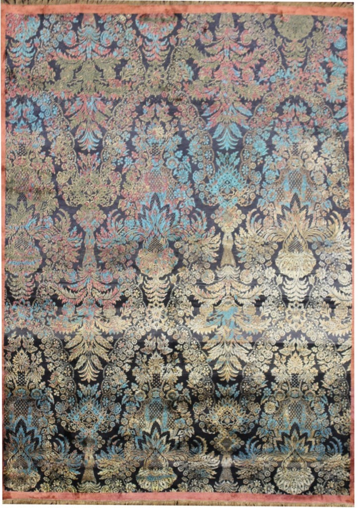 Carpet Couture Hand-Knotted Carpets made of Pure Silk Rectangular Modern for Indoor Use 240 cm x 308 cm