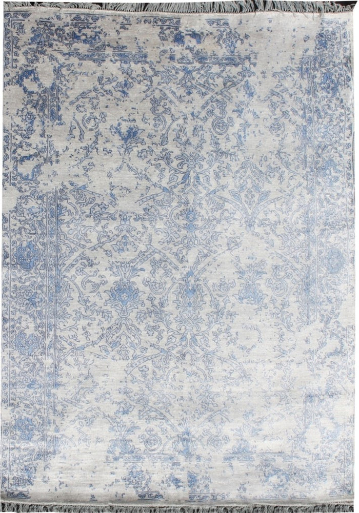 Carpet Couture Hand-Knotted Carpets made of Bamboo Silk Rectangular Modern for Indoor Use 236 cm x 169 cm