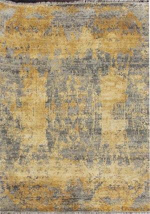 Carpet Couture Hand-Knotted Carpets made of Wool + Silk Rectangular Modern for Indoor Use 243 cm x 301 cm