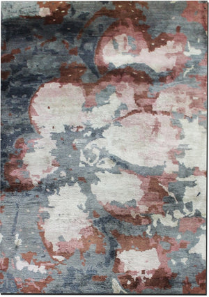 Carpet Couture Hand-Knotted Carpets made of Bamboo Silk Rectangular Modern for Indoor Use 137 cm x 187 cm