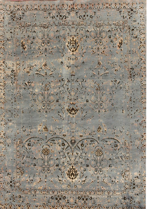 Carpet Couture Hand-Knotted Carpets made of Wool Rectangular Modern for Indoor Use 239 cm x 302 cm