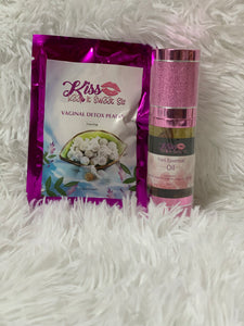 K.I.S.S. Essential Oil and Vaginal Detox Pearl Bundle