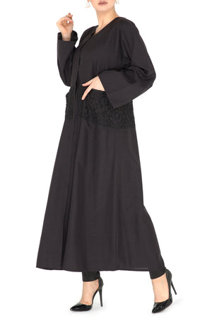 Centered Bead-work Abaya