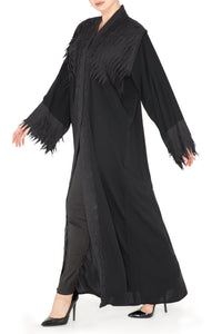 Layered Lasercut Abaya