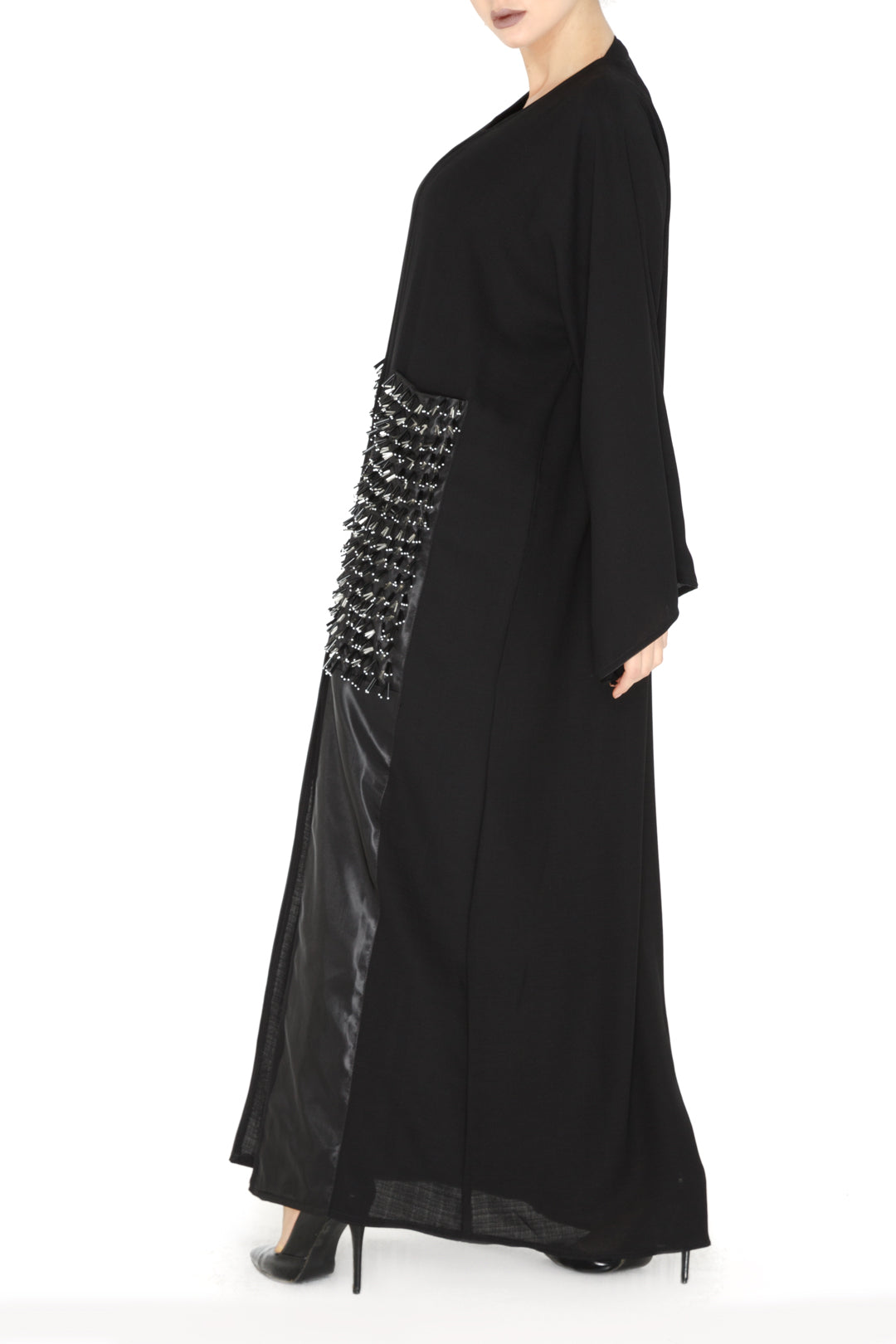 Large Pocket Embellishment Abaya