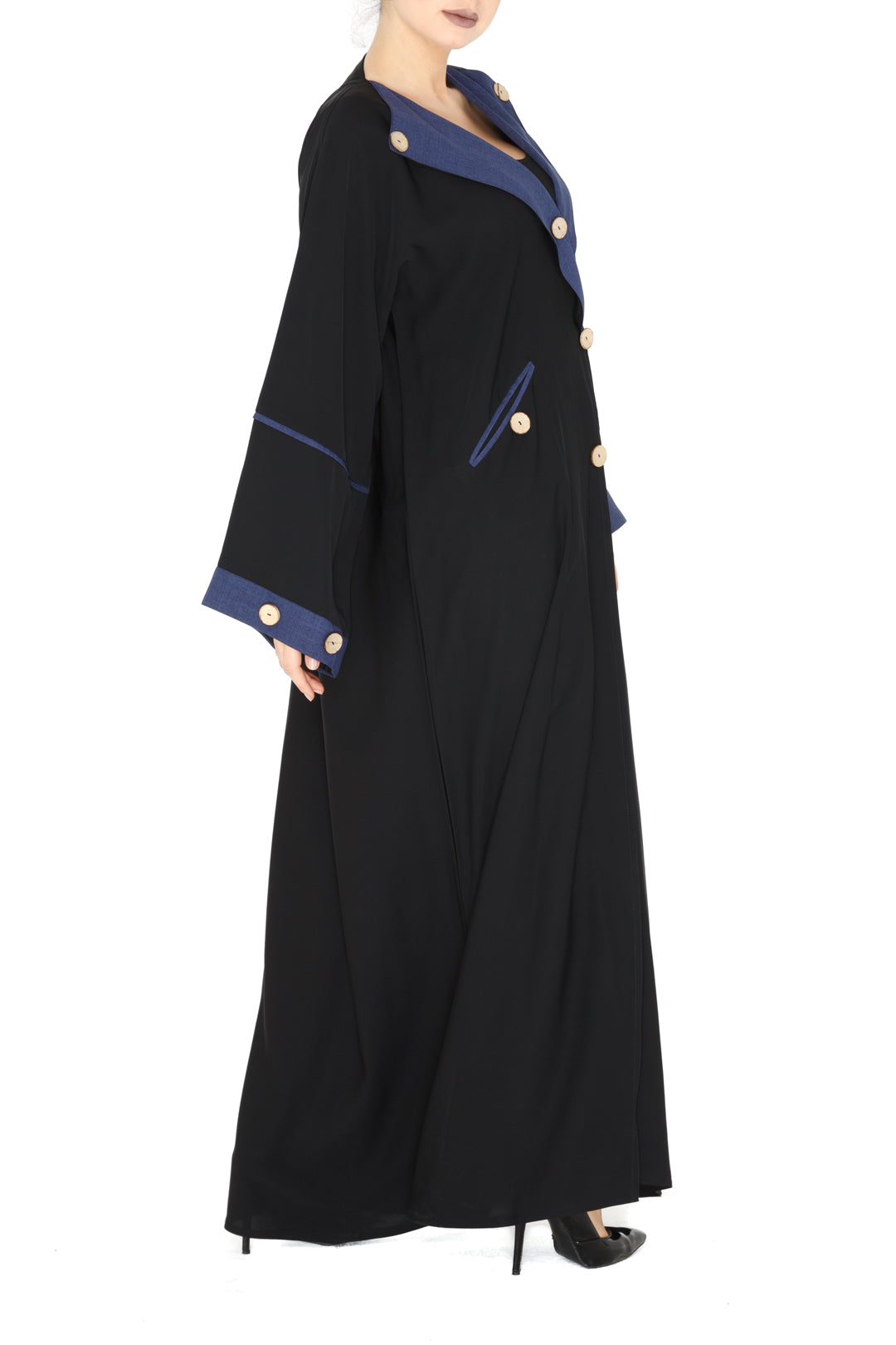 Denim Effect Abaya