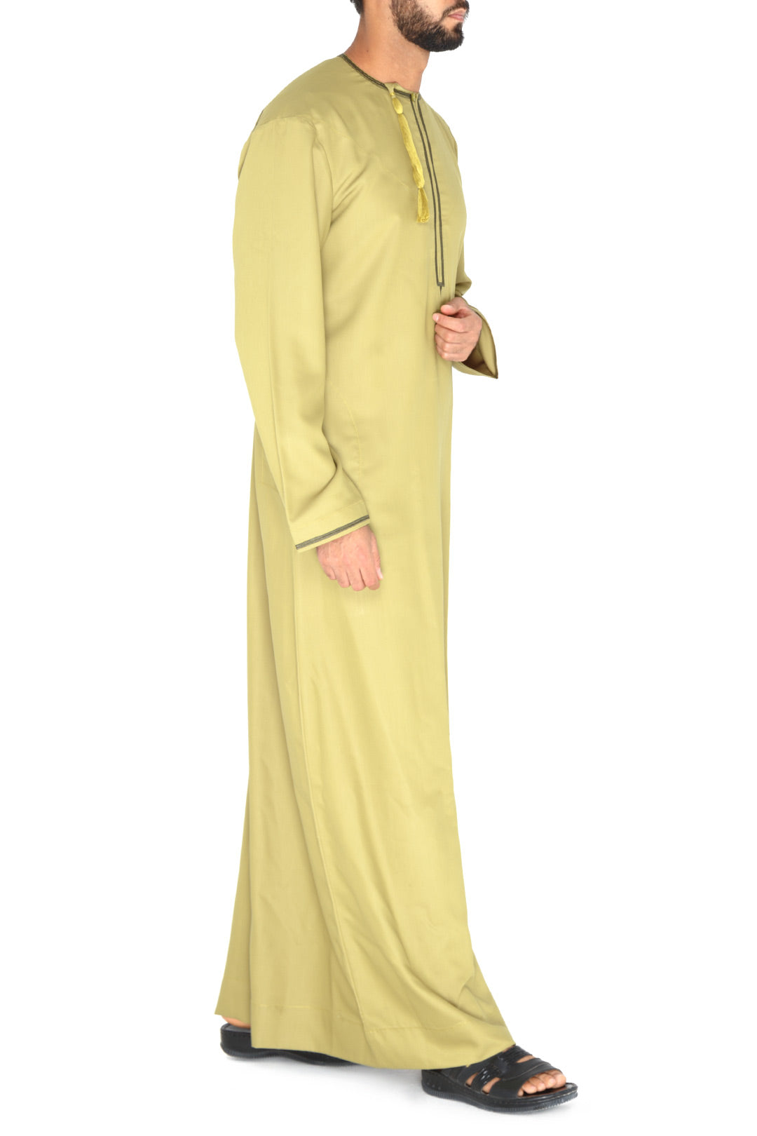 Olive Embroidered Side Tarboush