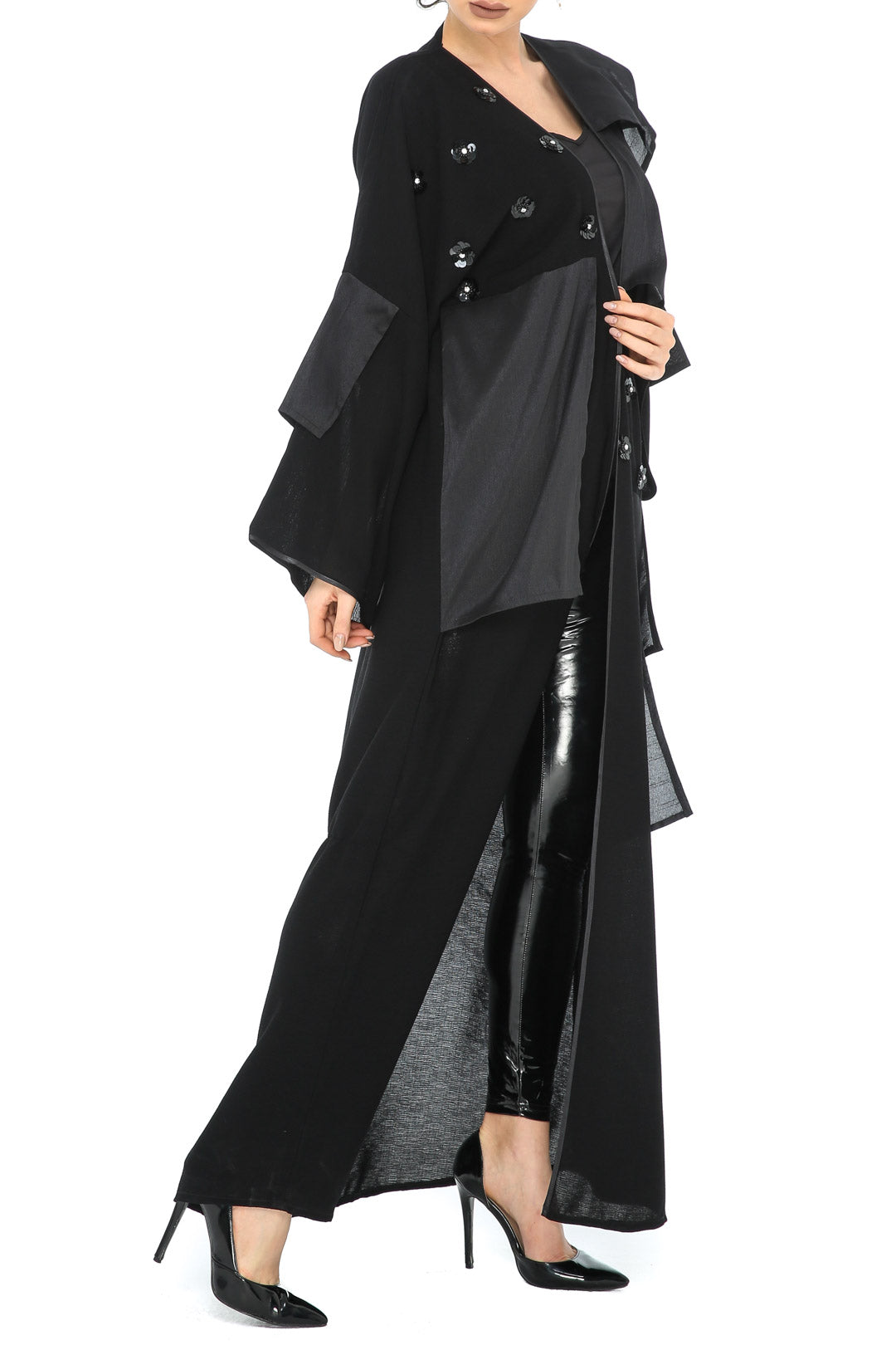Layered Patch Abaya