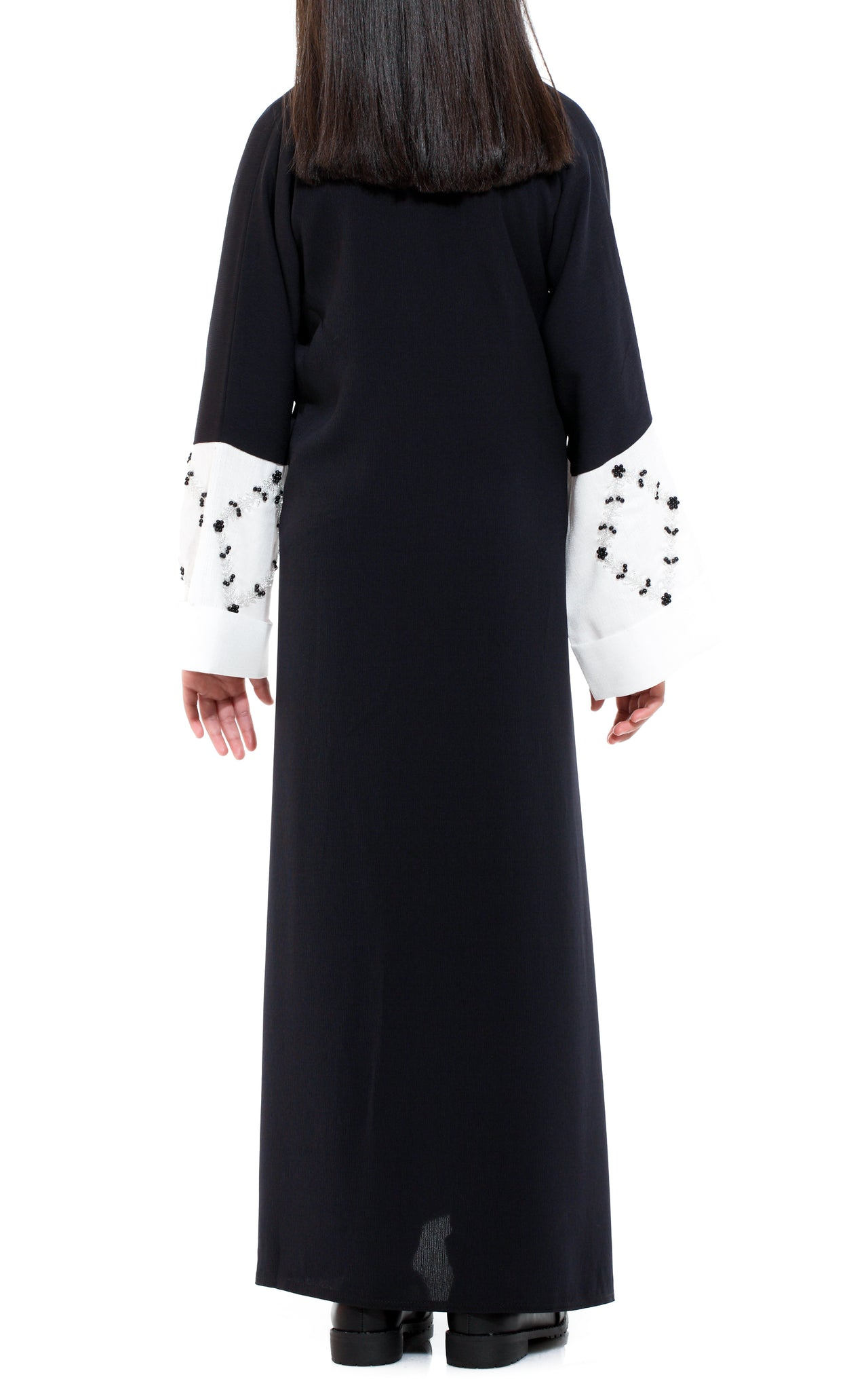 Black & Silver Sequined Abaya