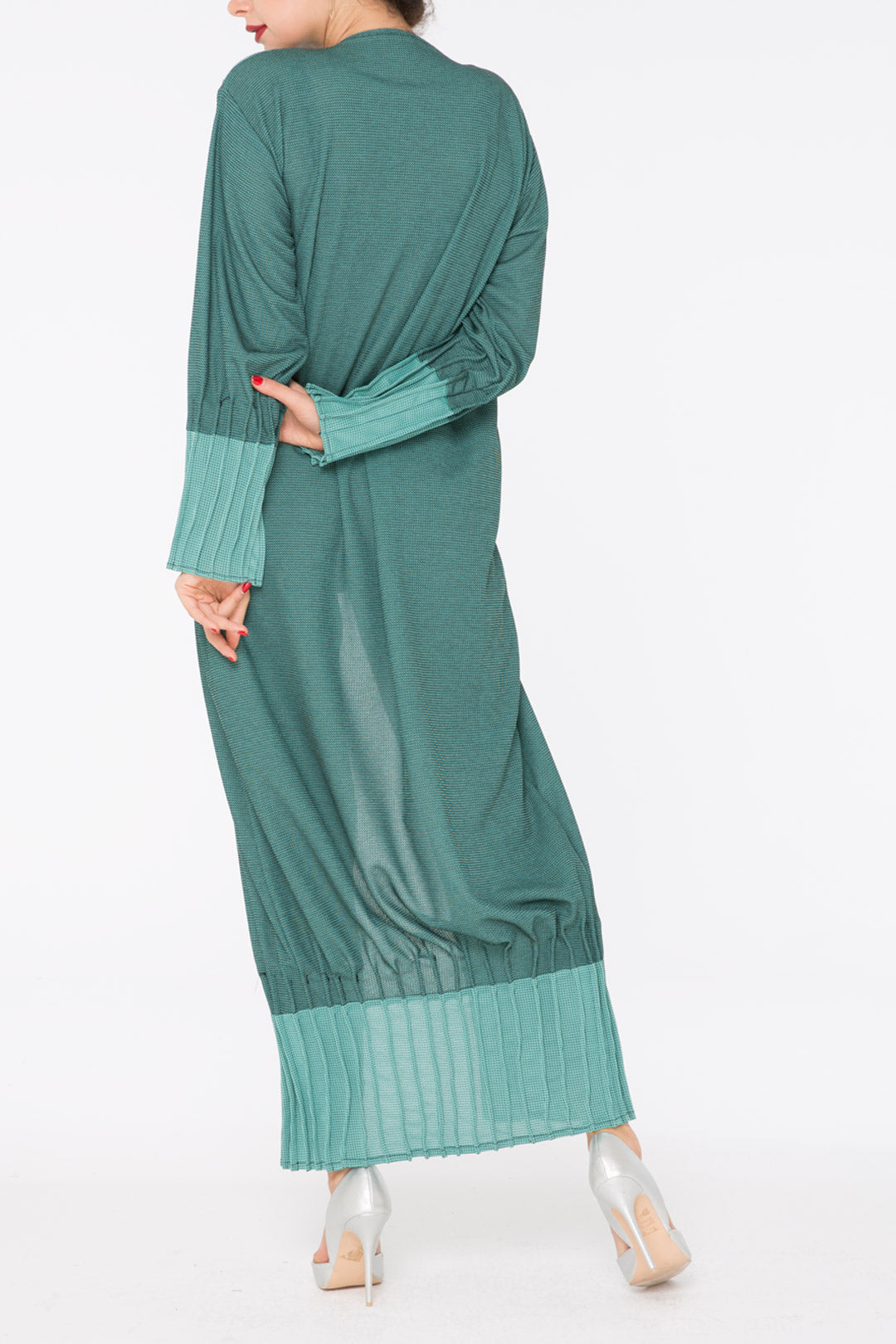 Sea Green Ruched Abaya
