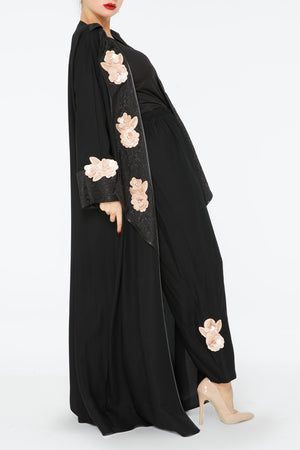 3d Flower Co-ord Abaya