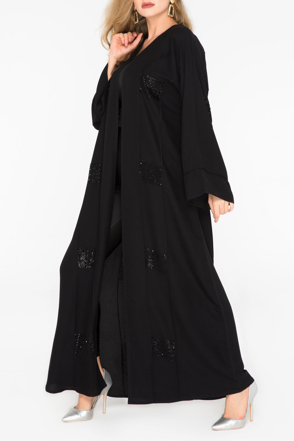 Sequins Patch Abaya
