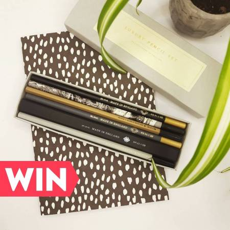 Win a luxury notebook and pencil set for Mother's Day