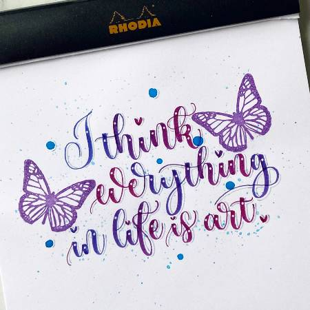 Try creative colour blends with the Pentel Brush Sign pens