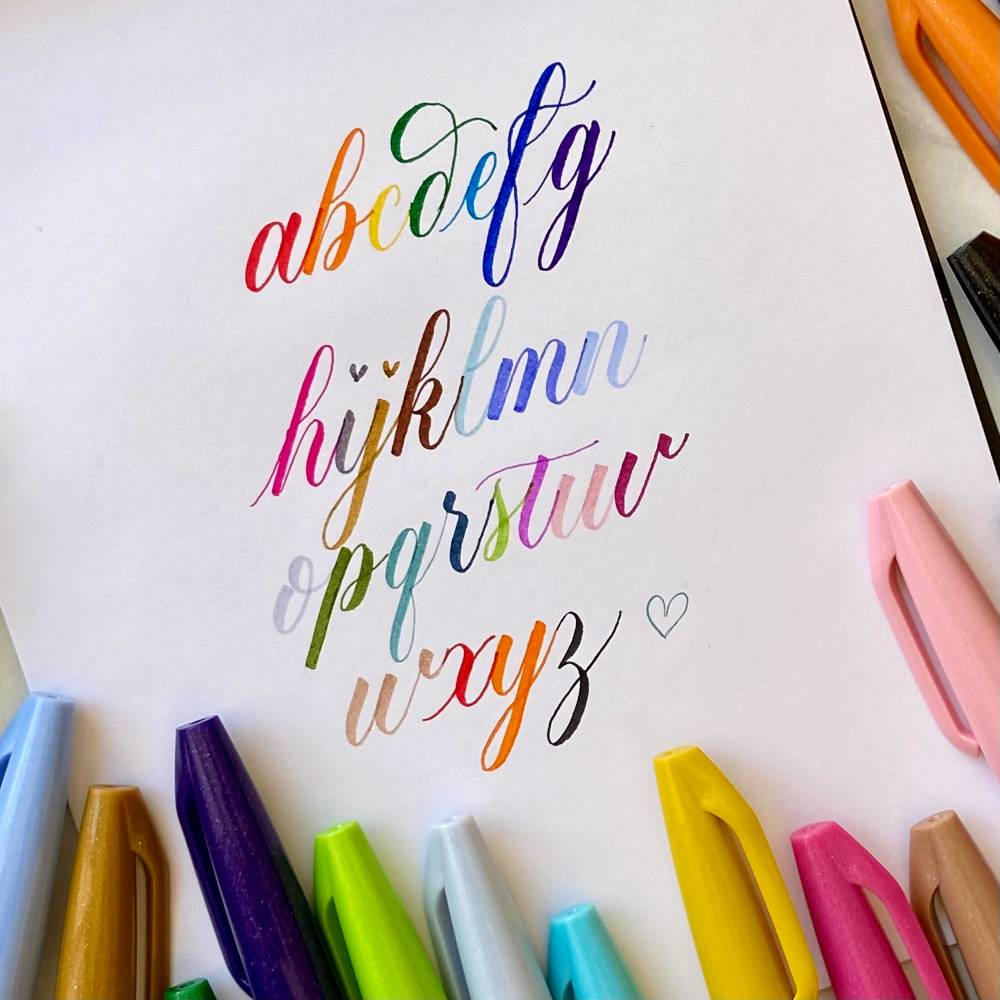 Get creative with the Pentel Brush Sign pens